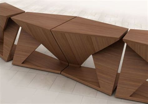 ergonomic coffee table with four separate parts digsdigs