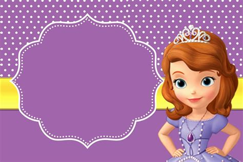 princess sofia template sofia the free printable invitations принцесса