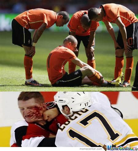 Soccer Hockey Meme - soccer players vs hockey players by getyak19 meme center