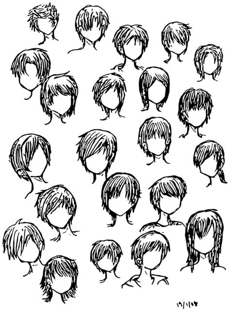 Anime Boy Hair by How To Draw Anime Boy Hairstyles