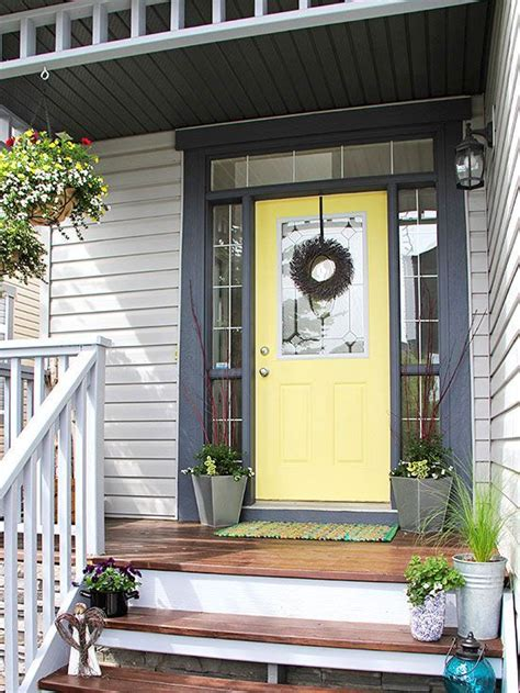 25 best ideas about front door design on pinterest door yellow front doors door colors with gray siding makeover