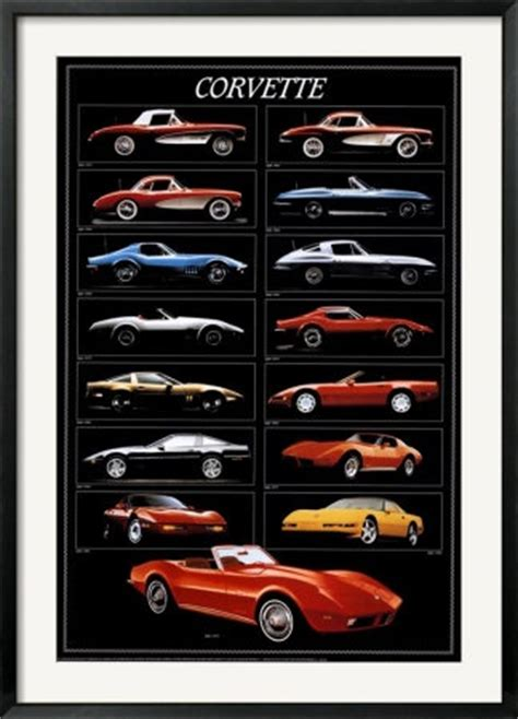 all corvette models by year corvette chart carros cars the o jays and