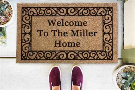 Personalized Doormats Company by Personalized Classic Coir Doormats From The Personalized