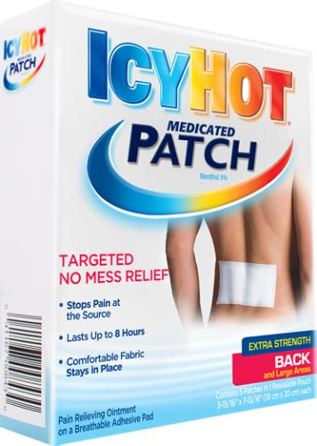 icy hot drug facts icy hot patch