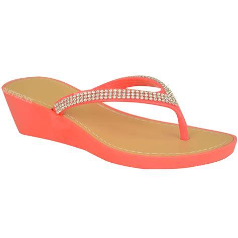 jelly sandals womens womens wedge jelly sandals low heel flip flops