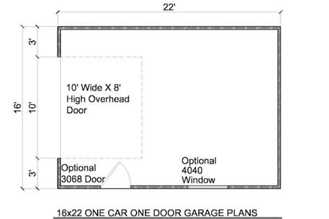 garage door floor plan 16x22 detached garage plans build your own garage