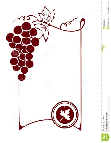 blank wine label template the blank wine label stock photography image 30498232
