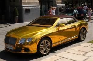 Gold Plated Bentley Best Car Gold Plated Bentley Continental Gtc In Budapest