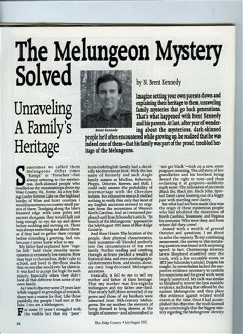 Melungeon Mystery Solved?   BlueRidgeCountry.com