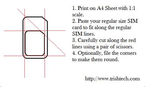 trim sim card template how to cut regular sim card into micro sim size