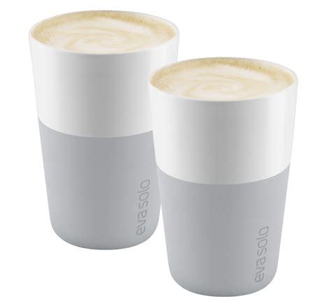 design latte mug cafe latte mug set of 2 360 ml marble grey by eva solo