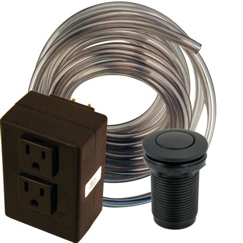 air switch for garbage disposal garbage disposal air switch in brushed stainless i5580 bs the home depot