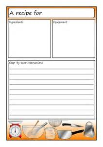 template for a recipe recipe writing frames and printable page borders ks1 ks2