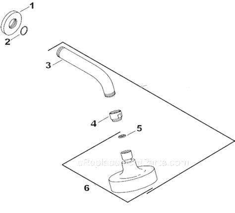 kohler shower parts diagram kohler k 967 parts list and diagram ereplacementparts