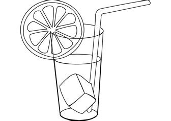 free lemonade coloring page