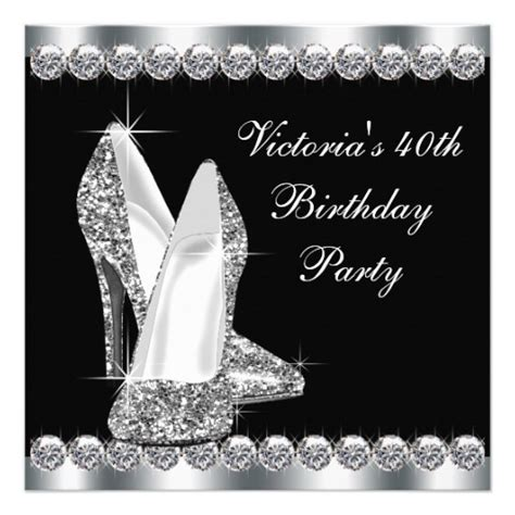 womans elegant black birthday party 5 25x5 25 square paper