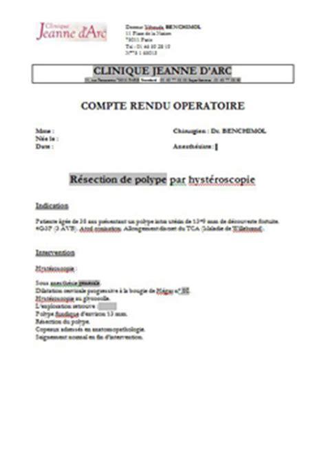 Modèles De Lettre De Compte Rendu Le Compte Rendu Op 233 Ratoire