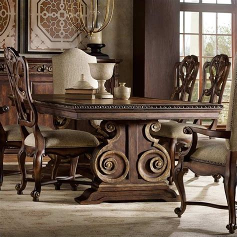 Hooker Furniture Adagio Rectangular Pedestal Dining Table
