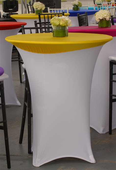 spandex highboy table cover beautiful white spandex highboy table cover with yellow