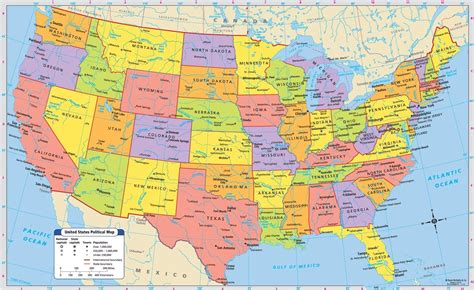 large printable map of usa printable large attractive cities state map of the usa