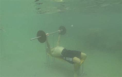 underwater bench underwater bench presses world record taken by gerald rioual deep sea waters