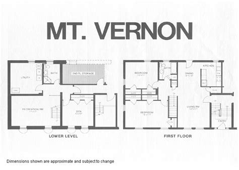 Mount Vernon Floor Plan | mount vernon model floor plan fairlington historic district