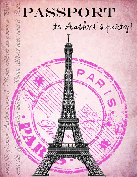 paris themed birthday invitations party invitations i made for my daughter s paris themed
