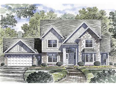 traditional family home plan 19554jf architectural