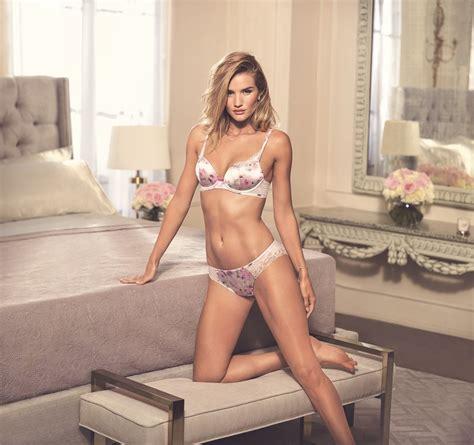 Marks Spencer Lace Trim Bodysuit Size 12uk rosie huntington whiteley marks and spencer shoot
