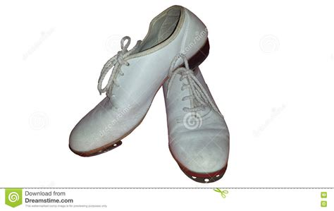 clogging shoes for isolated pair of worn clogging shoes for tap or clog