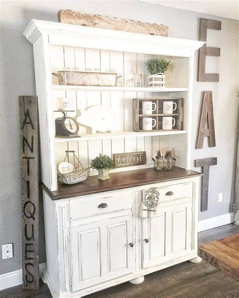 kitchen hutch decorating ideas 37 best farmhouse dining room design and decor ideas for 2017