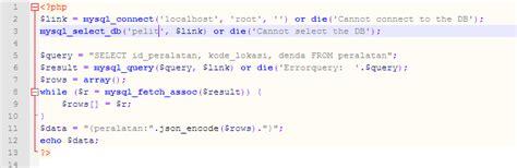 belajar membuat json cara mengambil data dari database atau server dengan