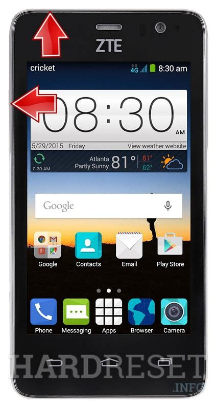 soft reset android zte zte sonata 2 z755 recovery mode hardreset info