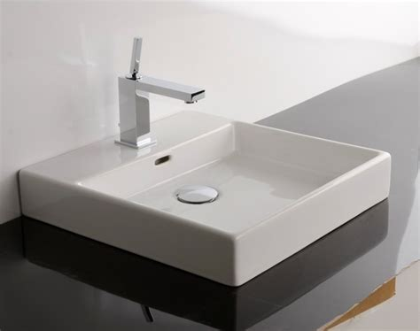 counter top bathroom sinks ws bath collections plain 45a counter top sink 17 7 quot