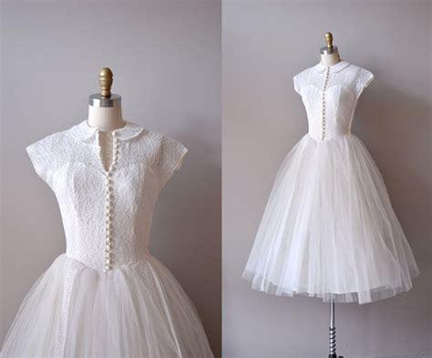 vintage style 1950s a line 50s wedding dresses vintage 1950s style cap sleeves tea