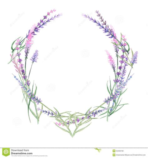 watercolor tattoo lavender wreath of lavender from 38 million high