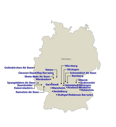 map us bases in germany our army across the world