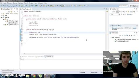 Sales Tax In Java Class Assignment Youtube