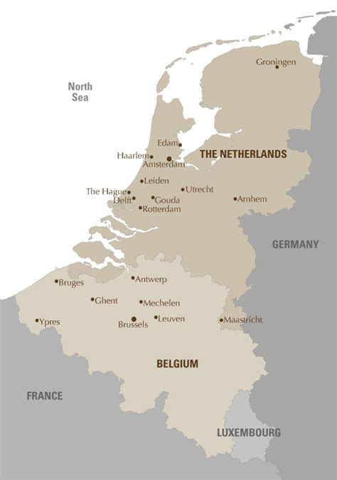 map of netherlands and belgium europe luxury tours artisans of leisure tour of