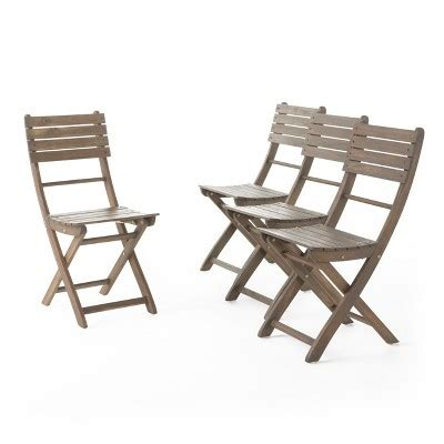 foldable cing chairs target positano 4pc acacia wood patio folding dining chairs