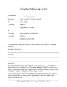 contract template free consulting contract template free consulting retainer