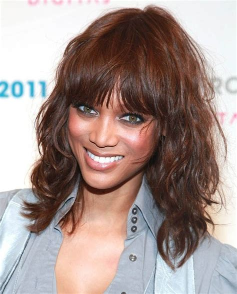 hairstyles with messy bangs tyra banks bangs messy hairstyle the fashion tag blog