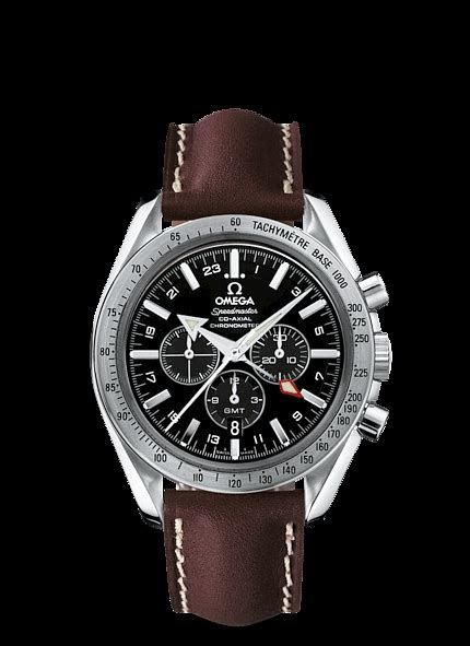 Omega Seamaster Gmt Leather Cronograph aaaa copy omega speedmaster broad arrow co axial gmt chronograph 44 25 mm leather 3881