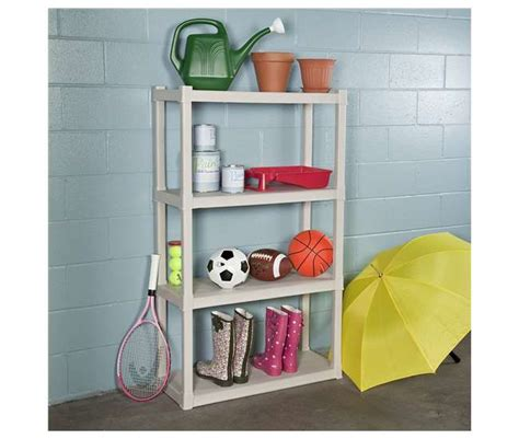 Sterilite 4 Shelf Storage Unit by Sterilite 4 Shelf Storage Shelving Unit Light Platinum