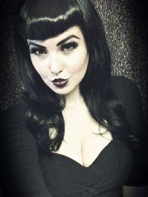 rockabilly hairstyles bangs dark look with bettie bangs rockabilly psychobilly pin