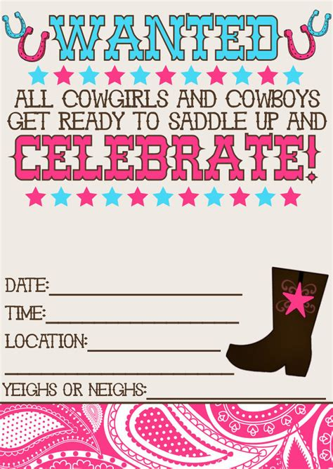 free printable western party decorations 11 beautiful and unique looking western birthday