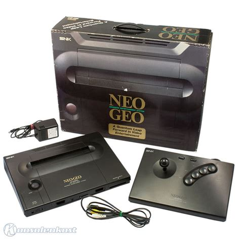 neo geo aes console neo geo aes console incl arcade stick equipment