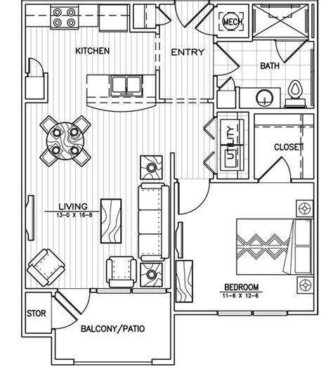 one bedroom apartment layout best 25 apartment floor plans ideas on pinterest
