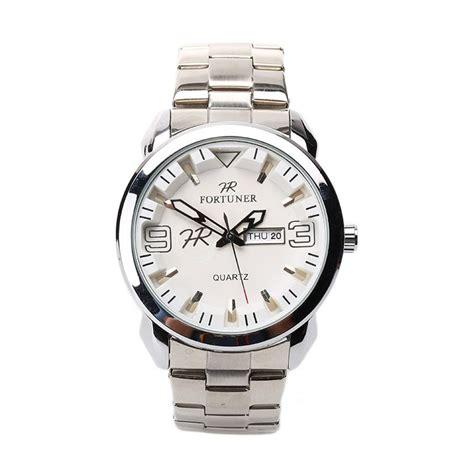 Jam Tangan Pria Cowok Fortuner Analog M2069 Silver Plat Putih Ori Wh harga fortuner fr k8106 g jam tangan pria putih stainless steel pricenia