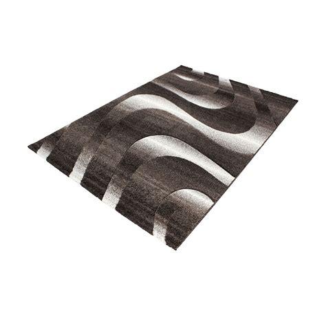 Modern Contemporary Black Grey Brown Purple Grey Swirls Modern Grey Rug